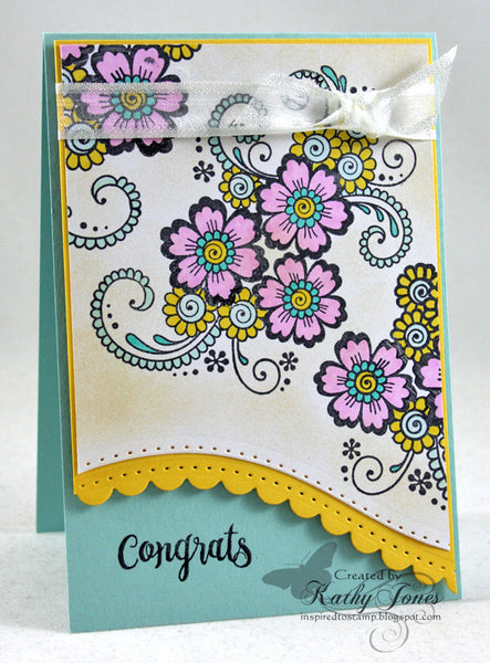 Justrite Papercraft Pinwheel Daisies Clear Stamps