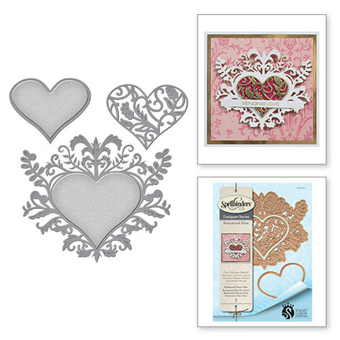 Spellbinders Botanical Heart Pair