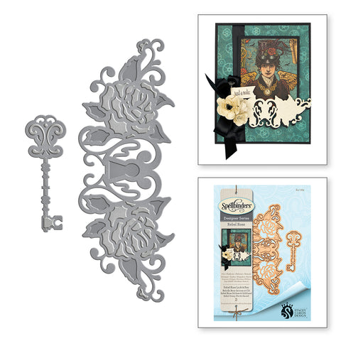 Spellbinders Die Rebel Rose Lock & Key s4-769