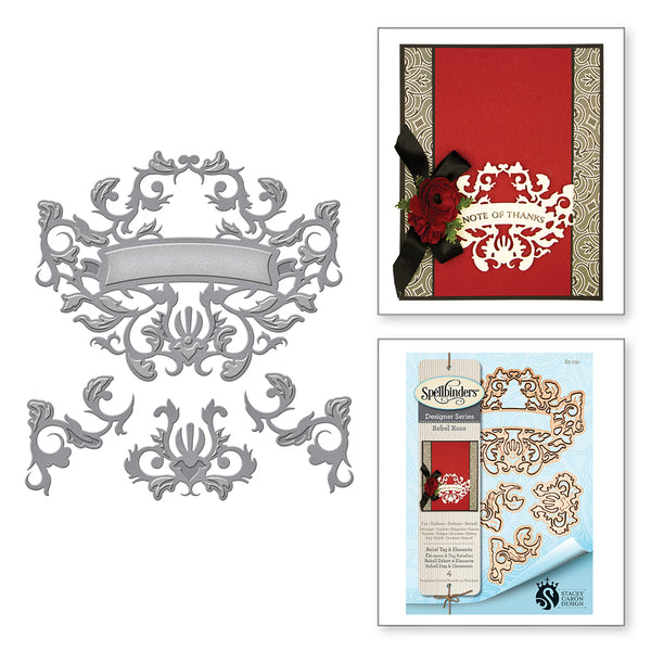 Spellbinders Die Rebel Tag & Elements s5-291