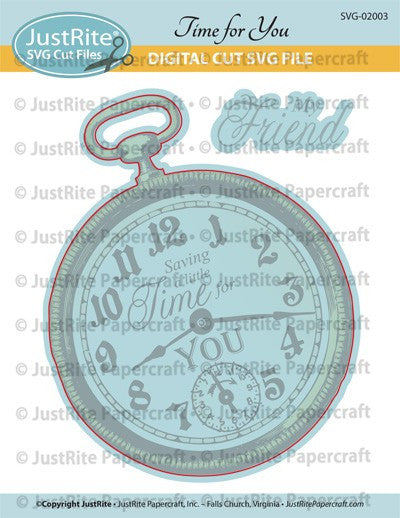 SVG Time for You Digital Cut File Download for CL-02003