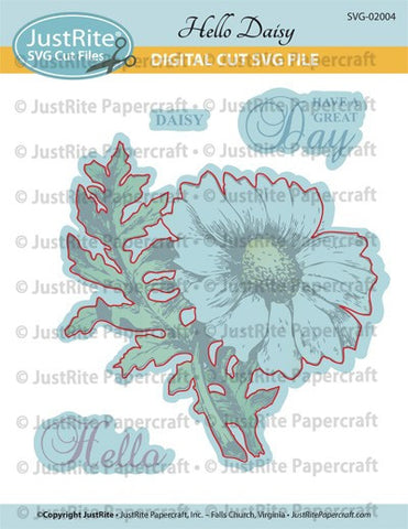SVG Hello Daisy Digital Cut File Download for CL-02004