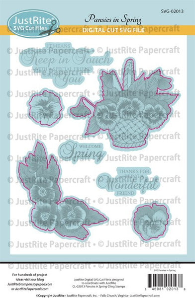 SVG Pansies in Spring Digital Cut File Download for CL-02013