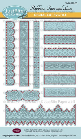 SVG Ribbons, Tape and Lace Digital Cut File Download for CR-02011