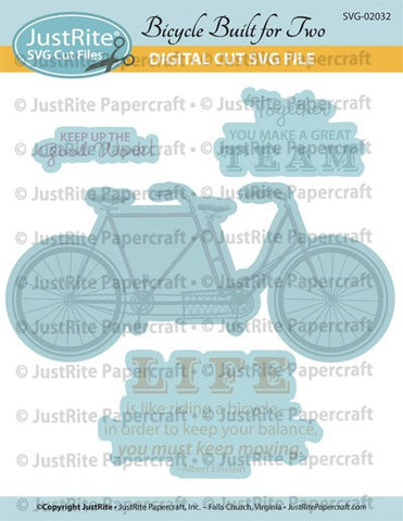 SVG Bicycle Built for Two Digital Download Cut File