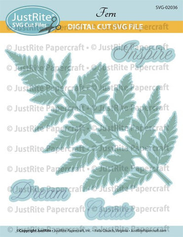 SVG Fern Digital Download Cut File for CL-02036