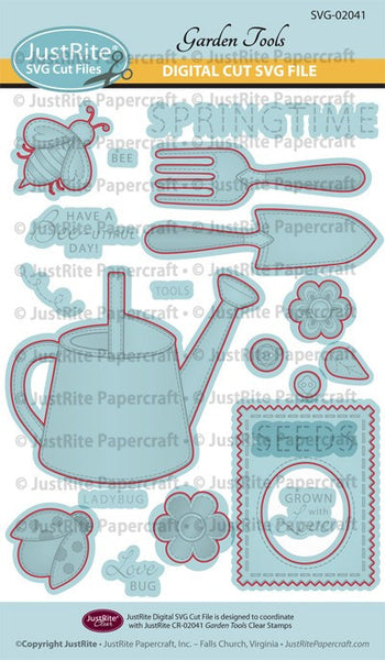 SVG Garden Tools Digital Cut Download for CR-02041