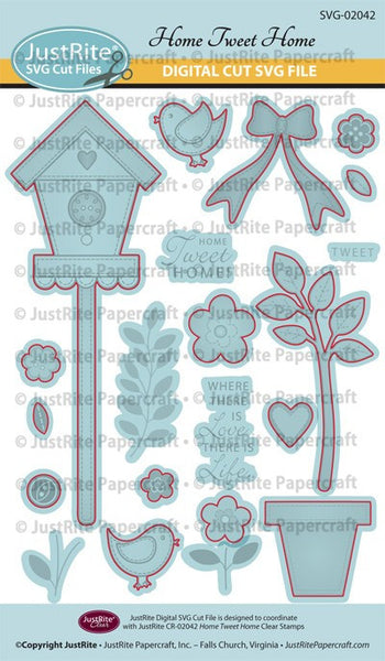 SVG Home Tweet Home Digital Cut File Download for CR-02042