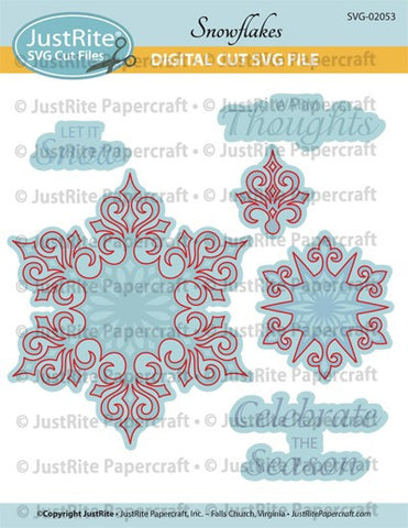 SVG Snowflakes Digital Cut File Download for CL-02053