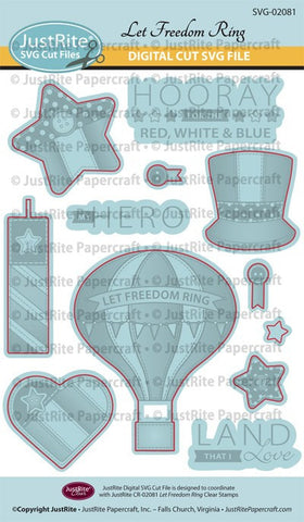 SVG Let Freedom Ring Digital Cut File Download for CR-02081
