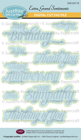 SVG Extra Grand Sentiments Digital Cut File Download for CR-02119