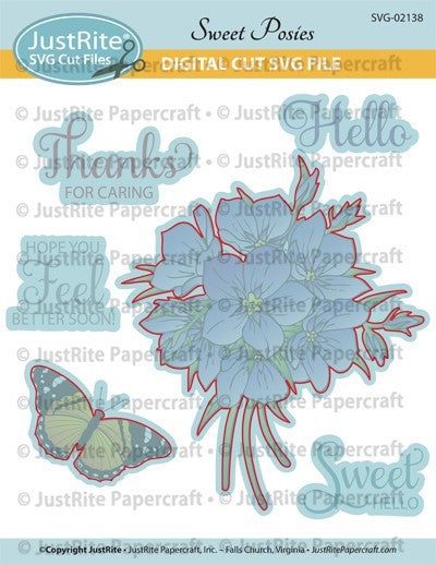 SVG Sweet Posies Digital Cut File Download for CL-02138
