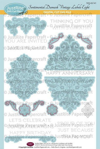 SVG Sentimental Damask Digital Cut File Download for CR-02141