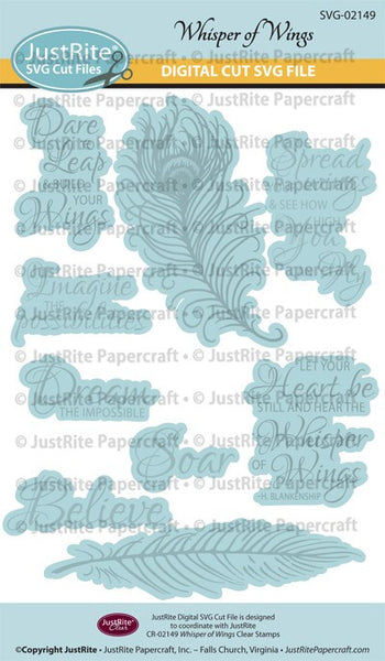 SVG Whisper of Wings Digital Cut File Download for CR-02149