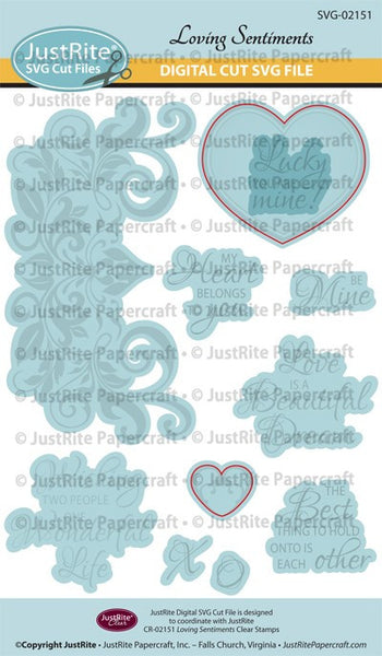 SVG Loving Sentiments Digital Cut File Download for CR-02151