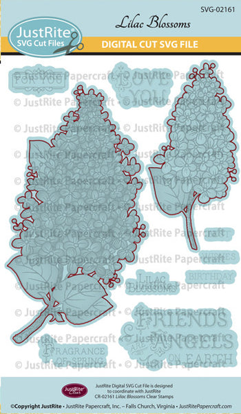 SVG Lilac Blossoms Digital Cut File Download for CR-02161