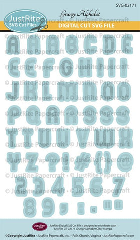 SVG Grunge Alphabet Digital Cut File Download for CR-02171