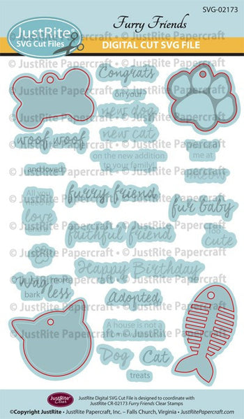 SVG Furry Friends Digital Cut File Download for CR-02173