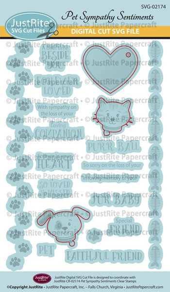 SVG Pet Sympathy Digital Cut File Download for CR-02174
