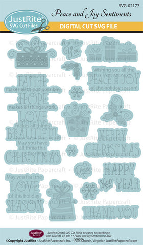 SVG Peace and Joy Digital Cut File Download for CR-02177