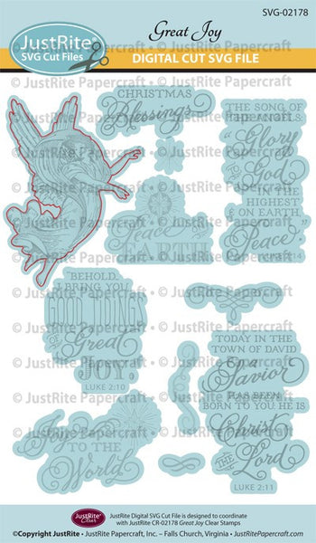 SVG Great Joy Digital Cut File Download for CR-02178