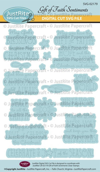 SVG Gift of Faith Sentiments Digital Cut File download for CR-02179