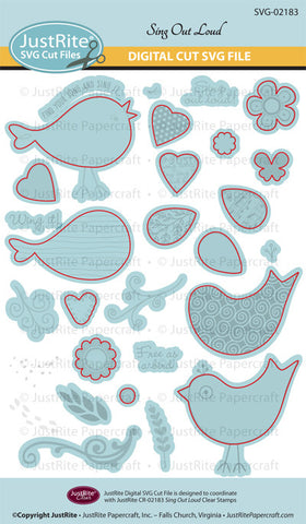 SVG Sing Out Loud Digital Cut File Download for CR-02183