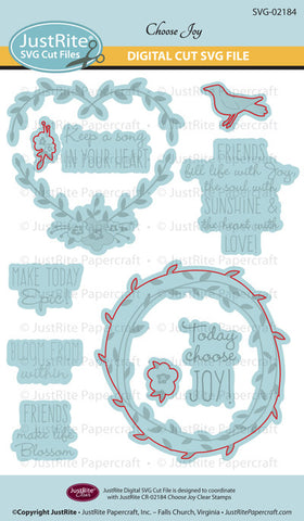 SVG Choose Joy Digital Cut File Download for CR-02184
