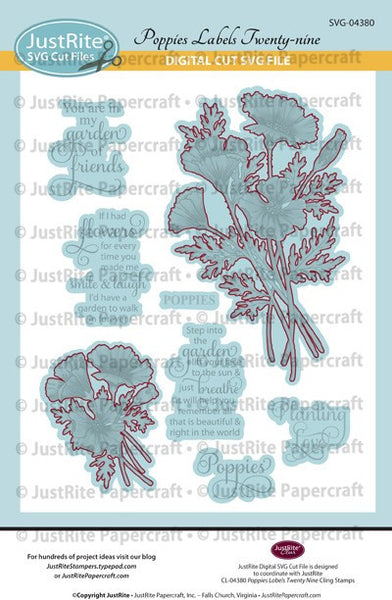 SVG Poppies Digital Cut File Download for CL-04380