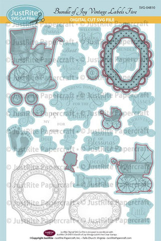 SVG Bundle of Joy Digital Cut File Download for CR-04810