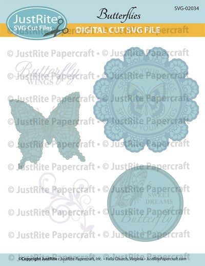 SVG Butterfies Digital Cut File Download for CL-02034