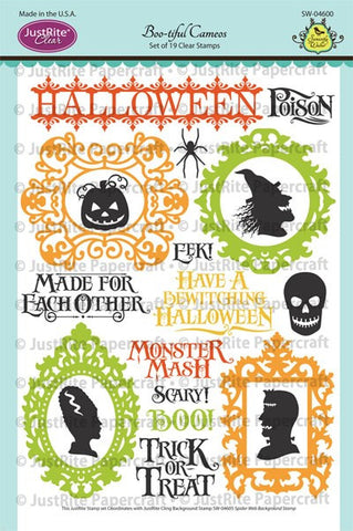 Boo-tiful Cameos Clear Stamps