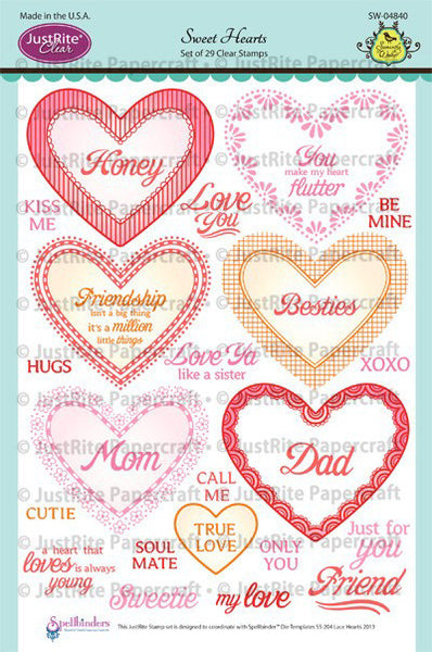 Sweet Hearts Clear Stamps
