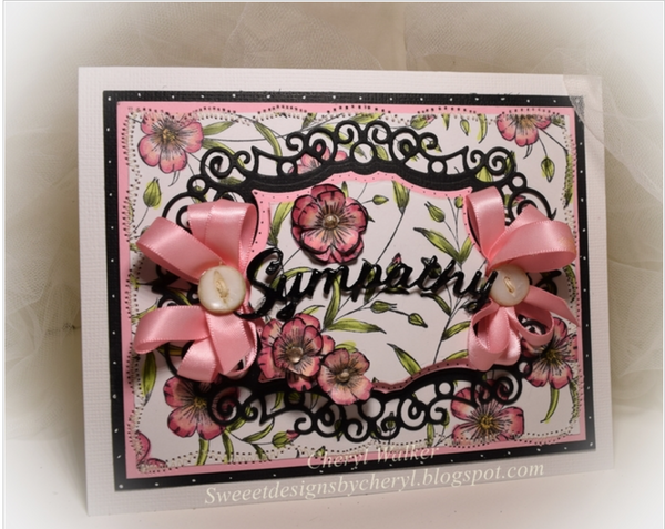 Justrite Blooming Vines Background Stamp
