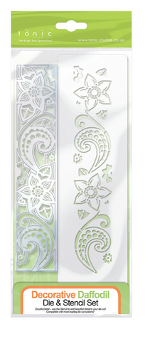 Tonic Studio Detail Die and Stencil Decorative Daffodil