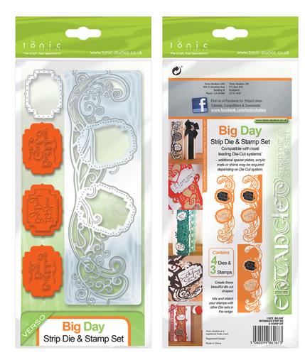 Tonic Studio Big Day Strip Die & Stamp Set