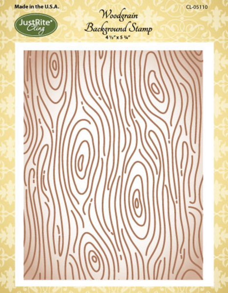 *GENTLY USED* JustRite Woodgrain Background Cling Stamp