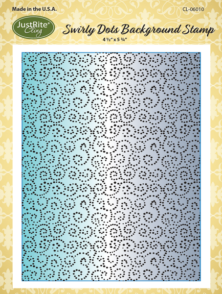 JustRite Swirly Dots Background Stamp