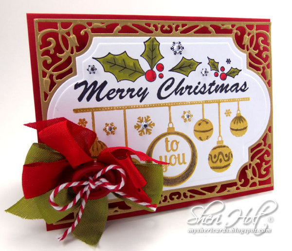 Merry Christmas Sentiment Cling Stamps
