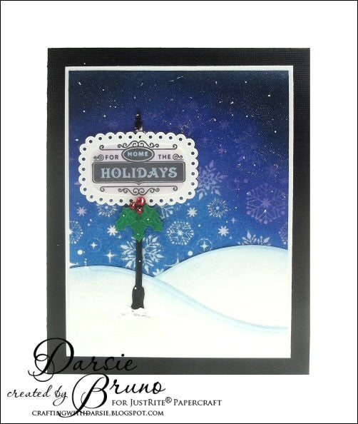 Snow Days Cling Background Stamp