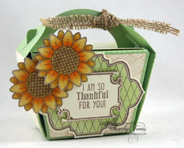 Stitched Sunflowers Vintage Labels Eight Clear Stamps