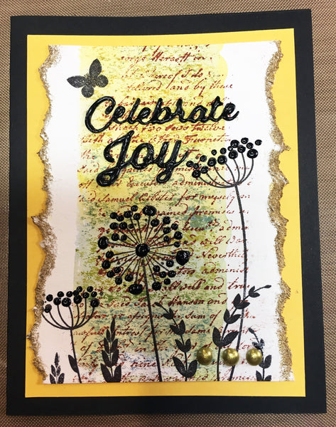 Justrite Floral Silhouettes One Clear Stamps