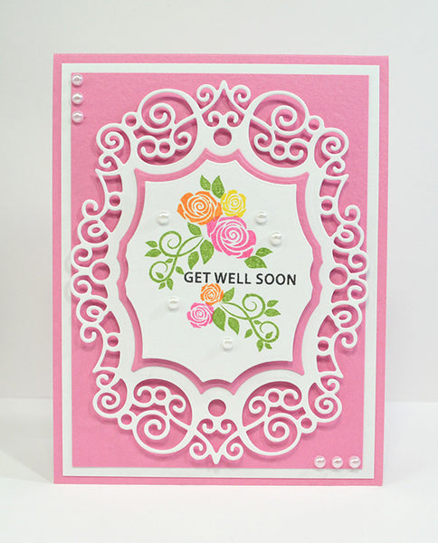 Justrite Sweet Flowers and Vines Clear Stamps
