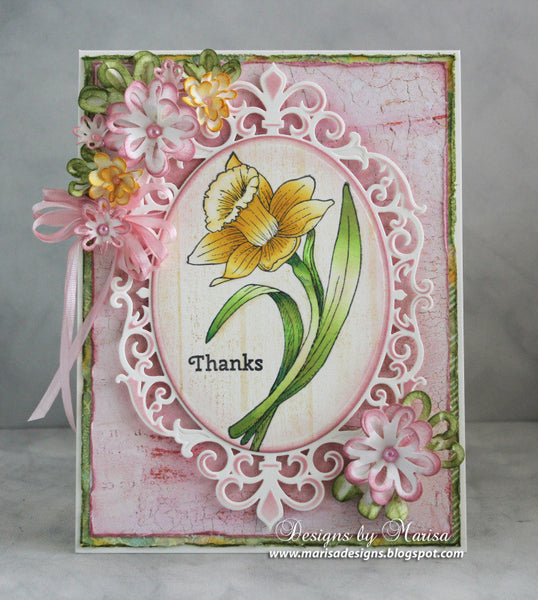 Thank You Daffodil Cling Stamps