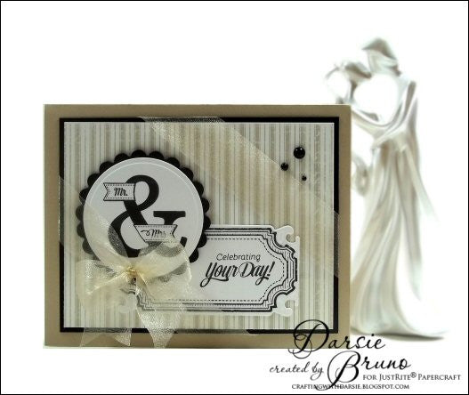 Wedding Wishes Vintage Labels Eight and Nine Clear Stamps