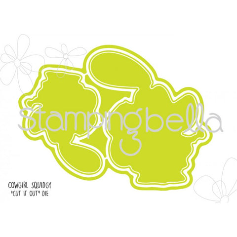 Stamping Bella CUT IT OUT Die Only COWGIRL SQUIDGY