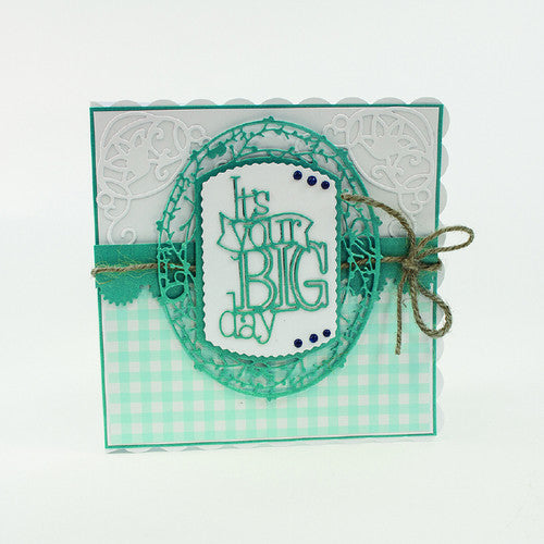 Tonic Studios It's Your Big Day Indulgence Chalkboard Die & Stamp Set 1099e