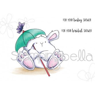 Stamp & Die Combo Stamping Bella SHOWER BUNNY WOBBLE (INCLUDES 2 SENTIMENTS)