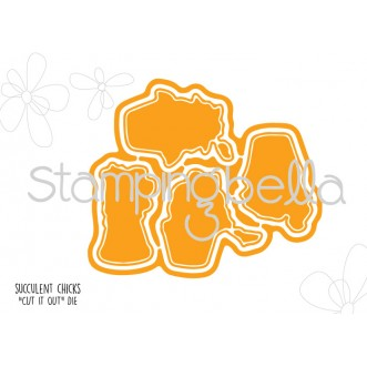 Stamping Bella CUT IT OUT Die Only SUCCULENT CHICKS