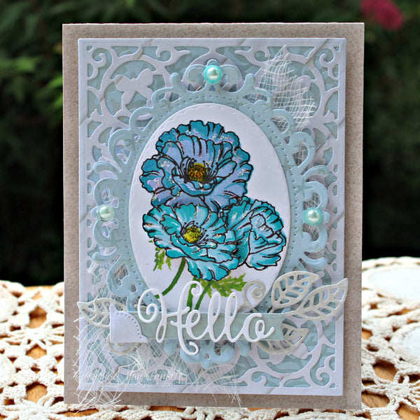 Justrite Multi-Step Poppies Clear Stamps